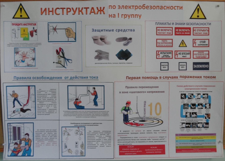 инструкции по электробезопасности в доу 2016