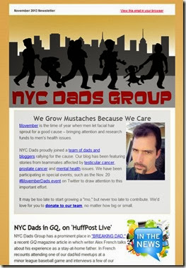 NYC Dads Group newsletter