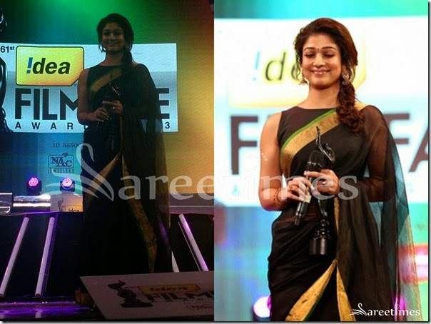 Nayanathara_Black_Transparent_Saree