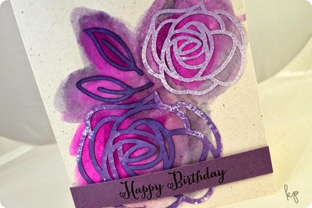 Purple Floral Close Up