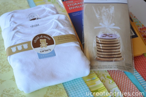 DIY Baby Shower by Mail Supplies