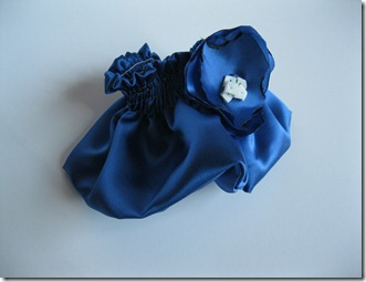 cobalt blue wedding ring bearer pillow and garter (24)