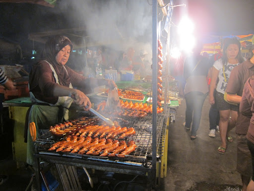 An entire lane of the night market was dedicated to chicken wings.