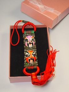 Chinese opera mask Christmas ornament