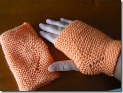 Orange Fingerless Mittens