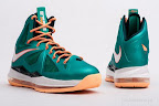 nike lebron 10 gr miami dolphins 5 06 Gallery: Nike LeBron X Miami Setting or Dolphins if you Like