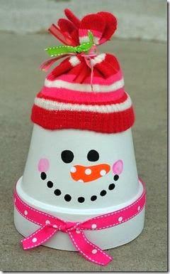 manualidades navidad con macetas (1)