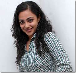 Nithya Menon in shirt