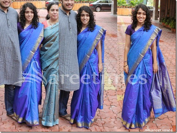 Ira_Khan_Blue_Silk_Saree