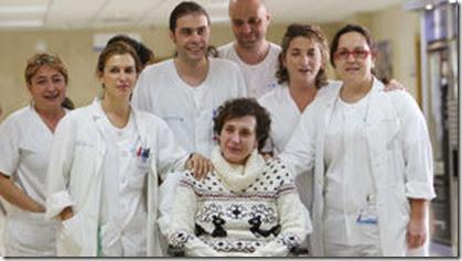 Teresa Romero con sus compañeros