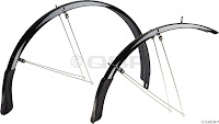 We stock the Planet Bike Cascadia guards for $90 in black and silver in a range of sizes. They look great, and install easily on most bikes. We've also got the Speed EZ version for totally eyelet-less frames.