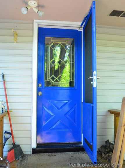 TARDIS blue door