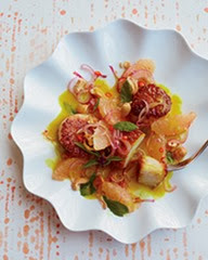 Scallops curry Grapefruit