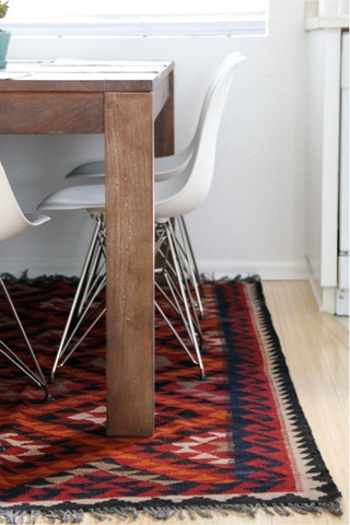 kilim rugs and eames chairs