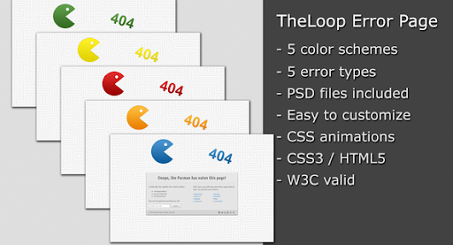 Premium 404 html templates theloop error page template theloop error page template 404 pages specialty pages maxwellsz