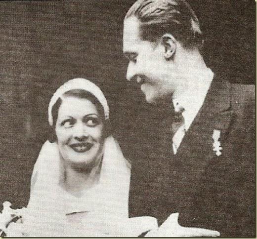 El Príncipe de Asturias y Edelmira Sampedro