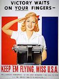 A World War II recruiting poster for women stenographers
