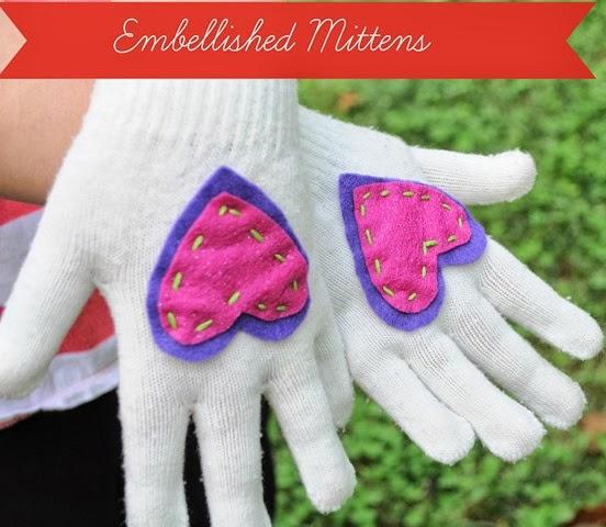 embellished mittens