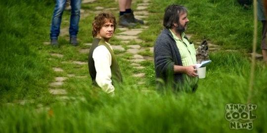 Från Eric Vespe - Martin Freeman med PJ i Hobbiton