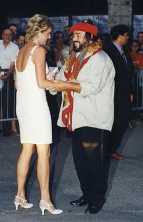 con Luciano Pavaroti