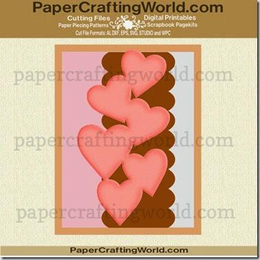 cascading heart card ppr cf-490