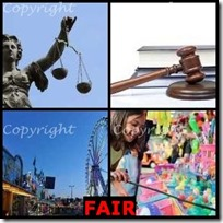 FAIR- 4 Pics 1 Word Answers 3 Letters