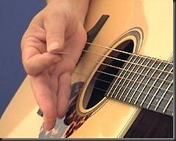 palm mute acustic guitar