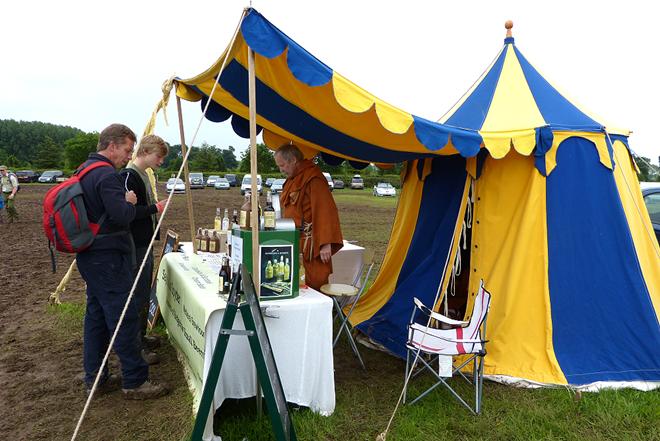Bushcraft show, drinking tent