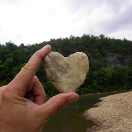 Love by Wesley Nesbitt - Artistic Objects Other Objects ( water, love, heart, nature, rock )