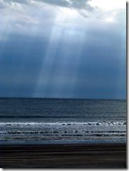 Sunbeams on an overcast day