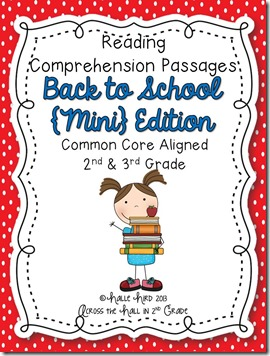 Back to School Comprehension Cover