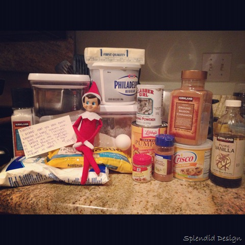 Elf on the Shelf making cookies