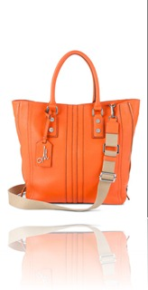 MILLY NY ANDIE LEATHER TOTE
