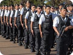 POLICIAIS MILITARES QUE  PARTICIPARAO DA SEGURANÇA DOS JOGOS PAN -AMERICANOS NO RIO DE JANEIRO. FOTO: MARY LEAL  DATA:07/07/07