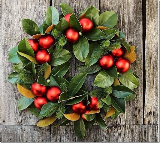 pottery barn magnolia and red ornament wreath u2026