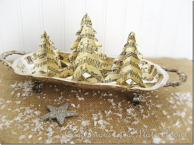 CONFESSIONS OF A PLATE ADDCIT Easy Vintage Paper Trees