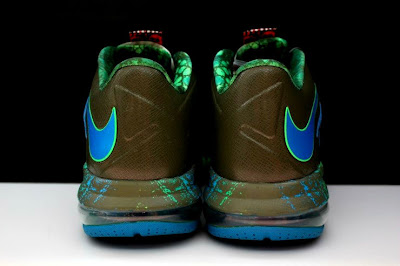 nike lebron 10 low gr black turquoise blue 2 14 Additional Look at Nike LeBron X Low Tarp Green