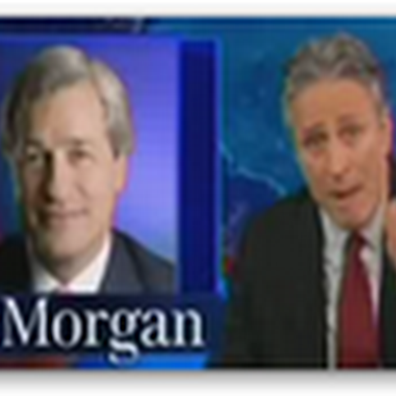 """The Person the Hardest on Jamie Dimon Was Jamie Dimon"" Testifying Before Congress This Week at the Senate Banking Committee Jon Stewart Video"