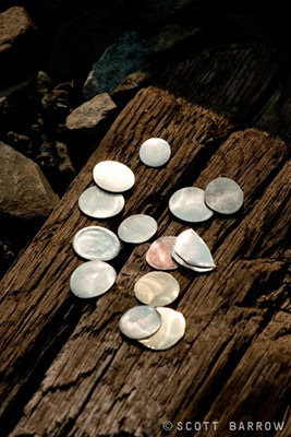 Coins flattened on train tracks.