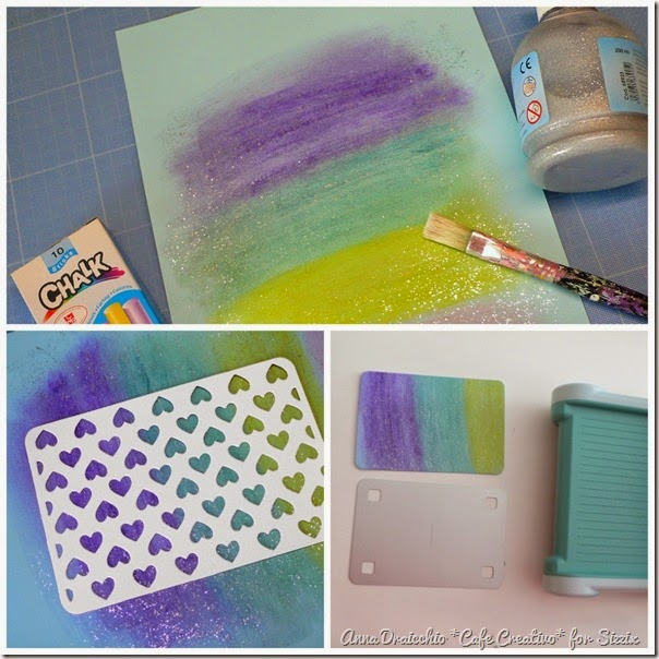 cafe creativo - sizzix big shot - tutorial - scrapbookimg card chalk