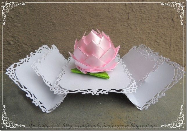 Cards Crafts Kids Projects Thermocol Lotus Tutorial