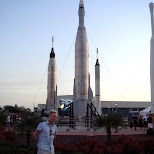 in front of the rocket garden in Cape Canaveral, Florida, United States