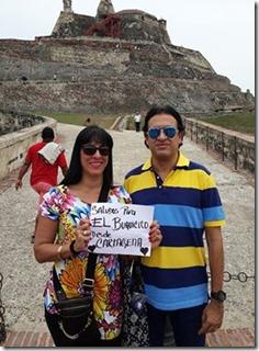 saludos desde Cartagena, Colombia