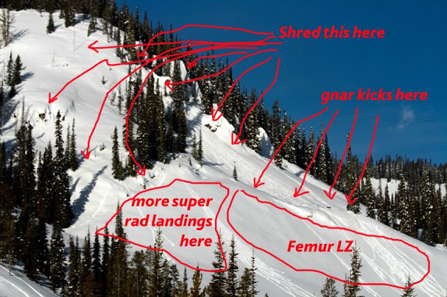 A handy diagram of the terrain.