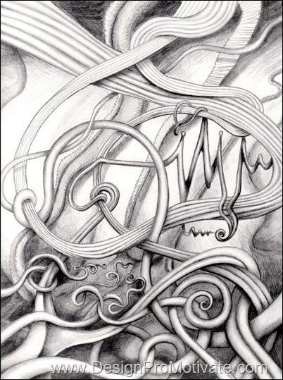 swirling design
