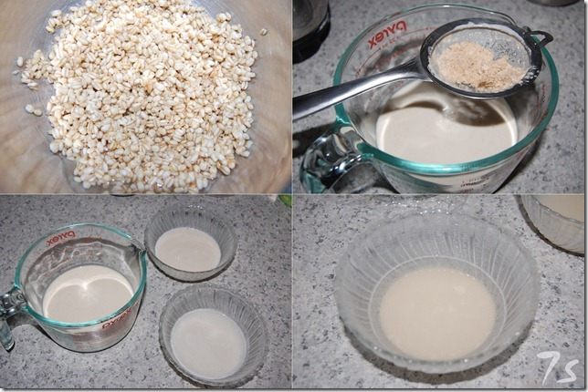 Making of wheat milk process
