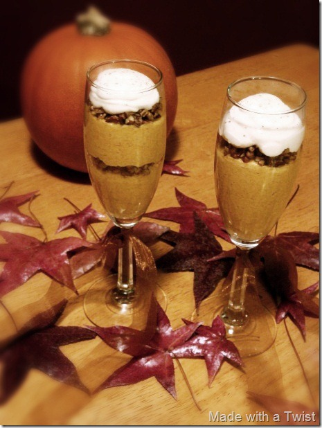 pumpkin mousse verrines