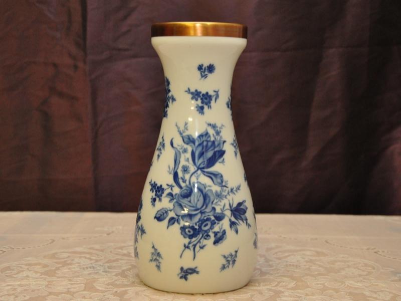 pmr bavaria jaeger co porzellan vase blumenvase goldrand blumendekor ebay. Black Bedroom Furniture Sets. Home Design Ideas