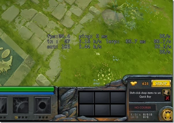 Dota 2 net_graph default location