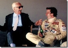 Enzo Ferrari con Gilles Villeneuve